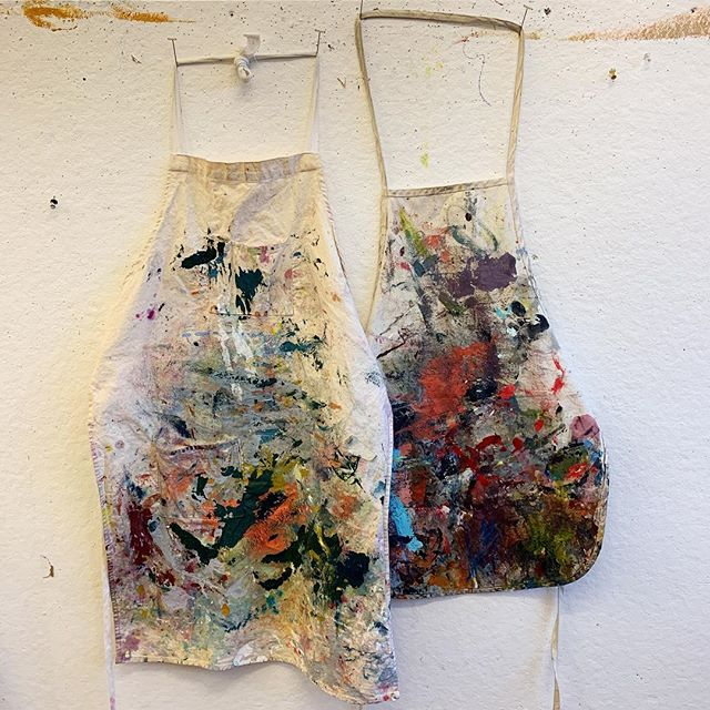 2 years, 2 very dirty aprons.