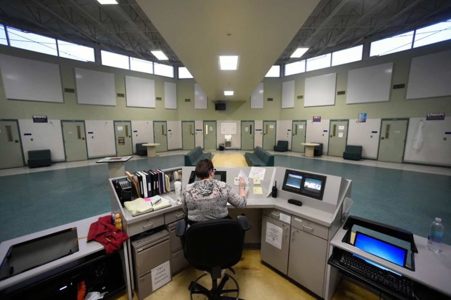 Cell block at CJTS in Middletown  (Source: Cloe Poisson / Hartford Courant)