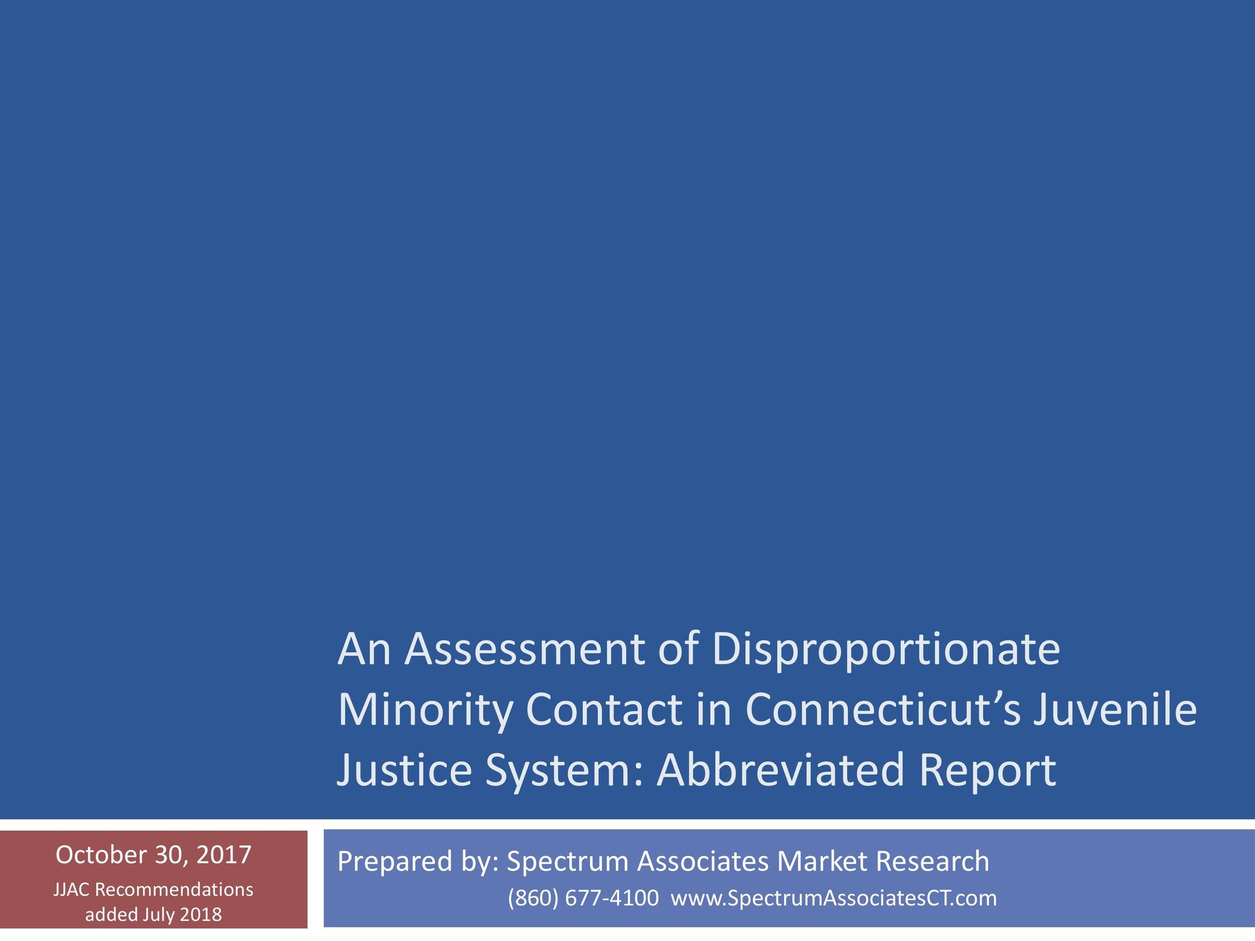 Racial & Ethnic Disparities in CT Juvenile Justice