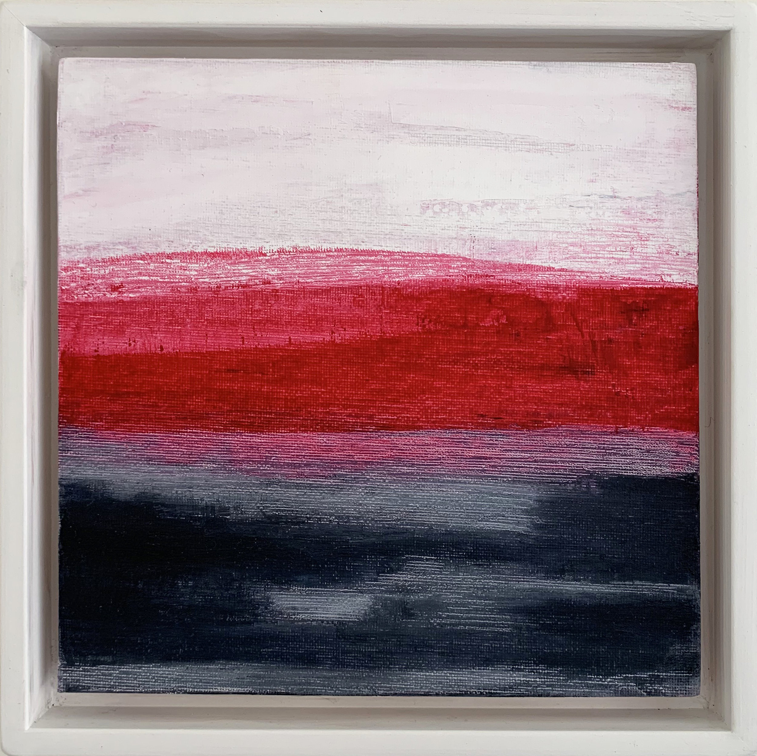 RED LANDSCAPE 24CM X 24CM OILS  FOR SALE
