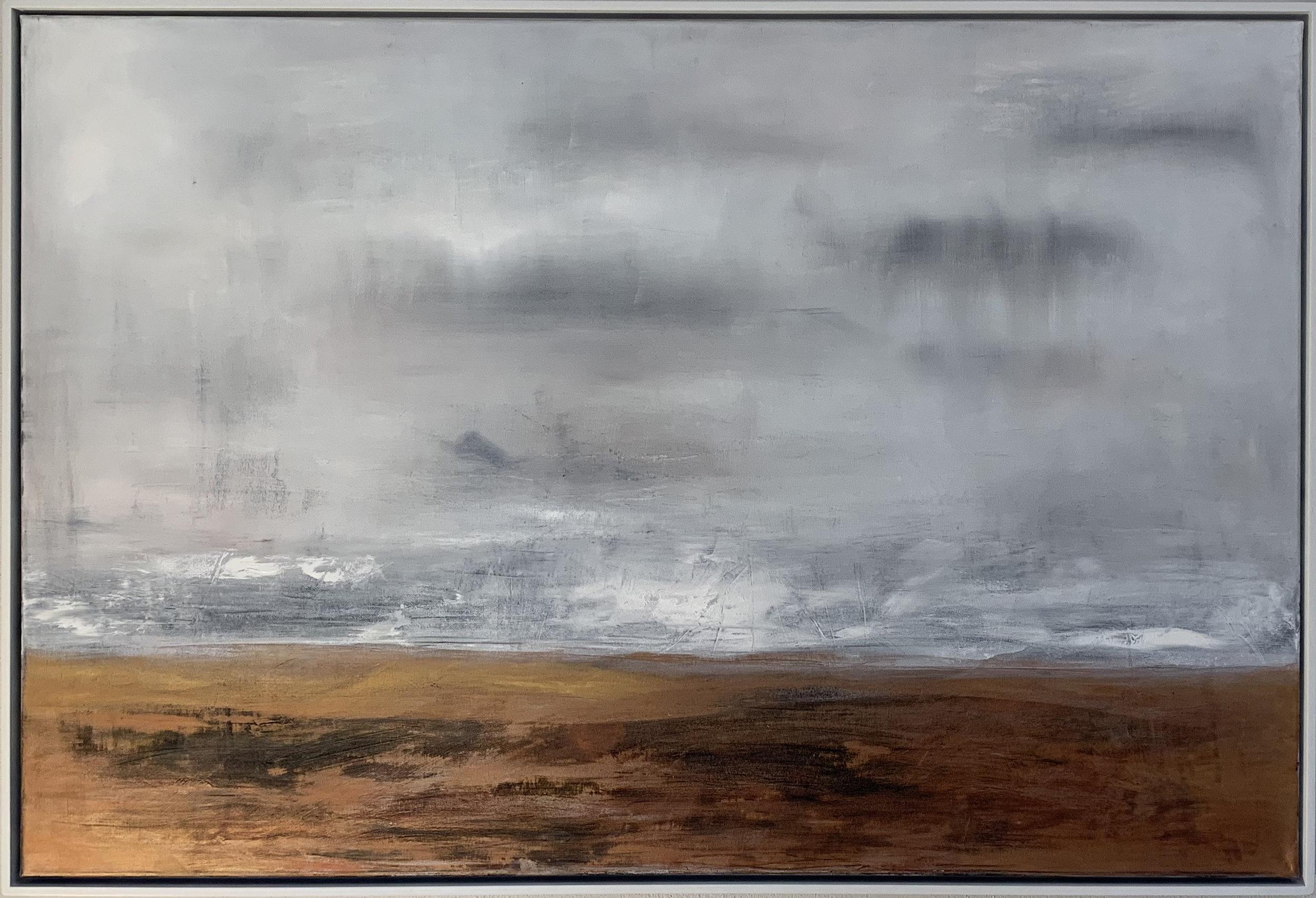 Copper landscape Oils on Canvas. 150cm x 100cm For Sale