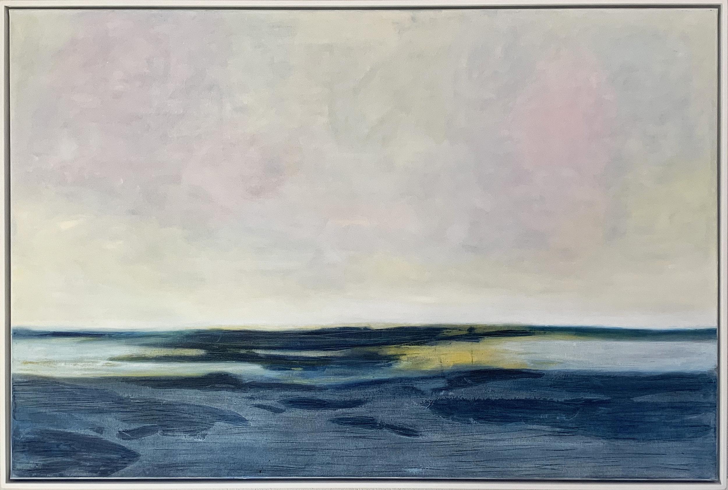 SUMMER SEASCAPE oils on canvas 150cm x 100cm For Sale
