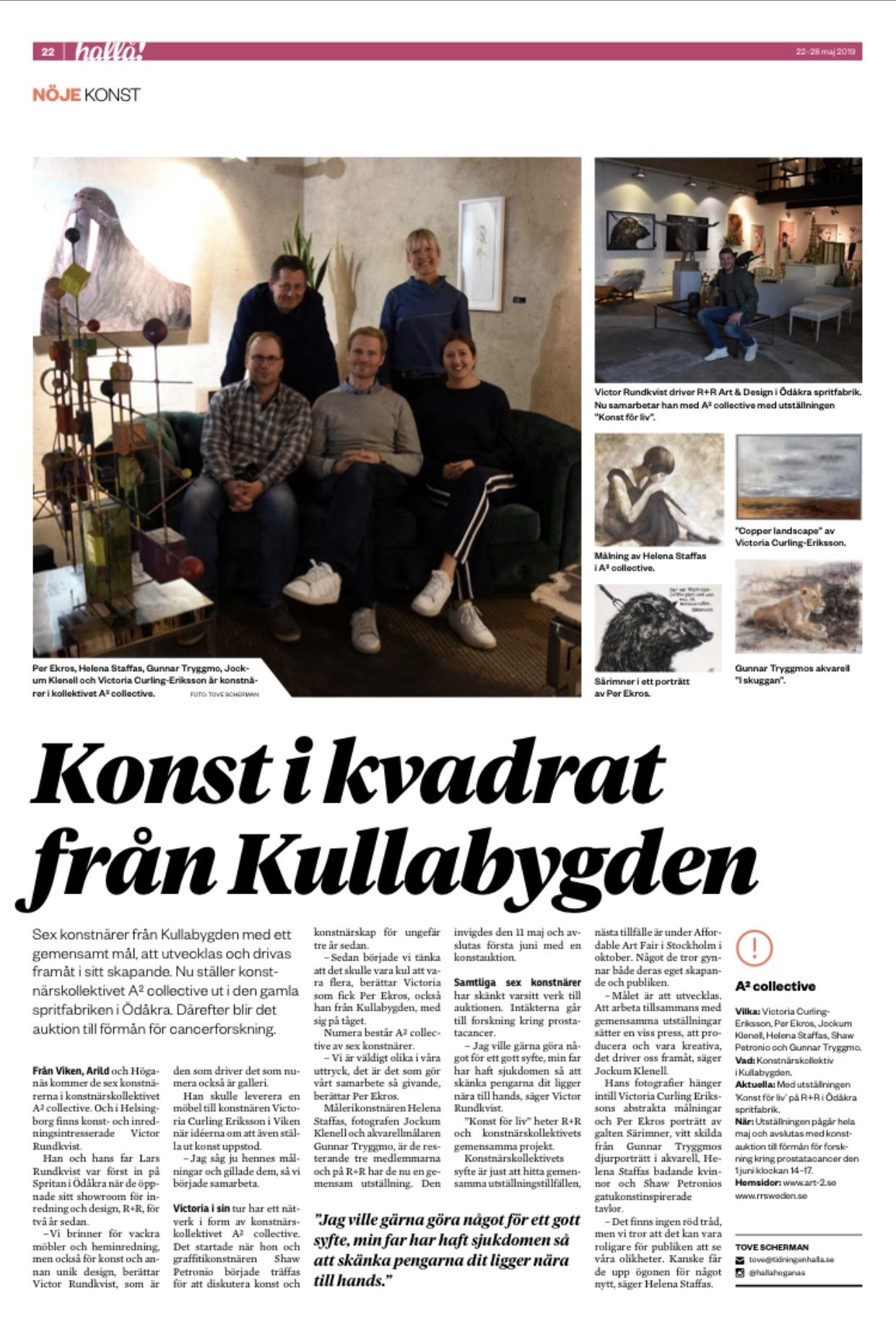 Hallå Höganäs. May 22nd 2019.  Art Auction, 1st June 2019, 13.00 R&R Sweden, Ödåkra Spritfabriken, Helsingborg.
