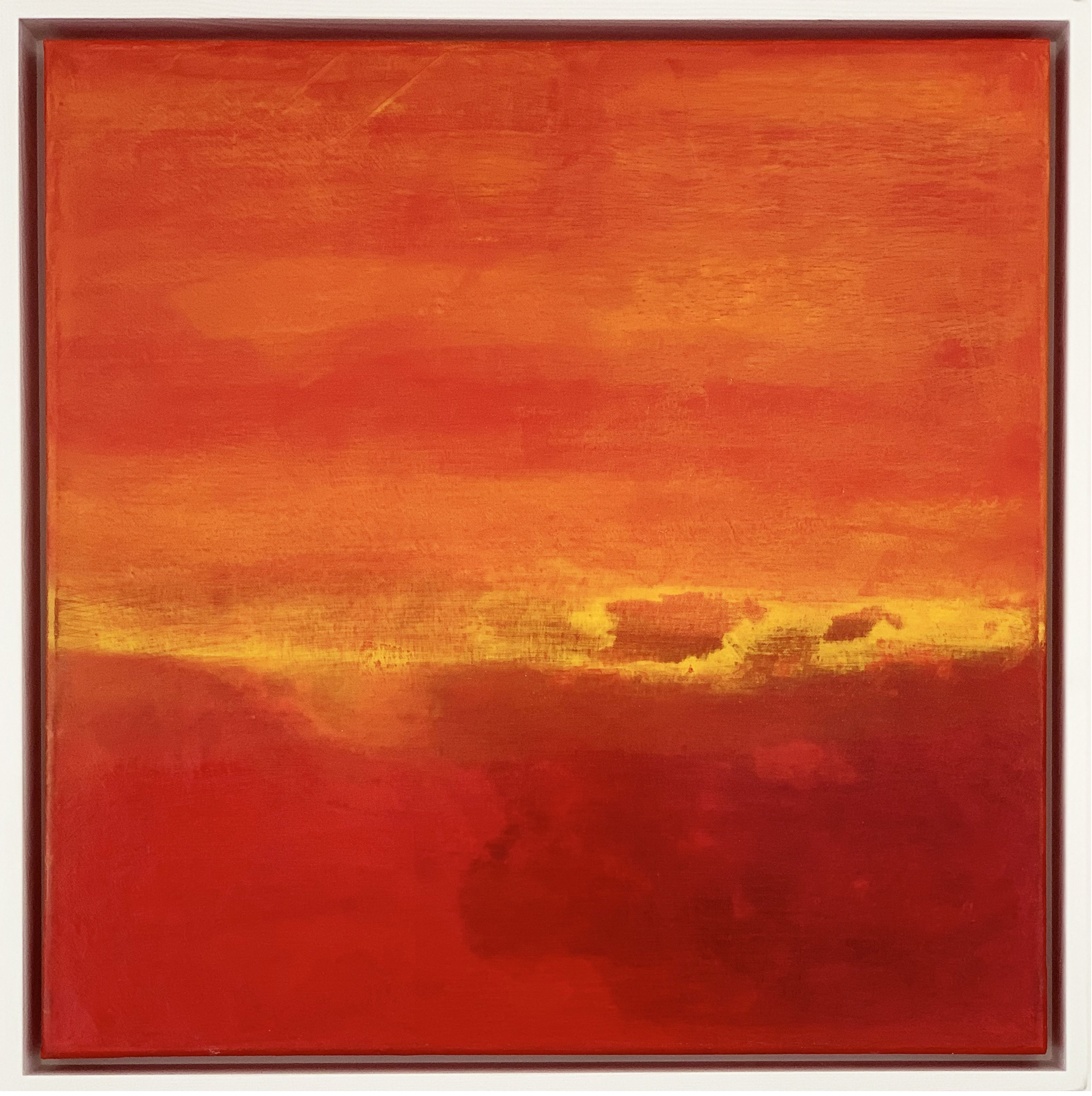 Orange Sky, Oils on canvas , framed. 50cm x 50cm FOR SALE