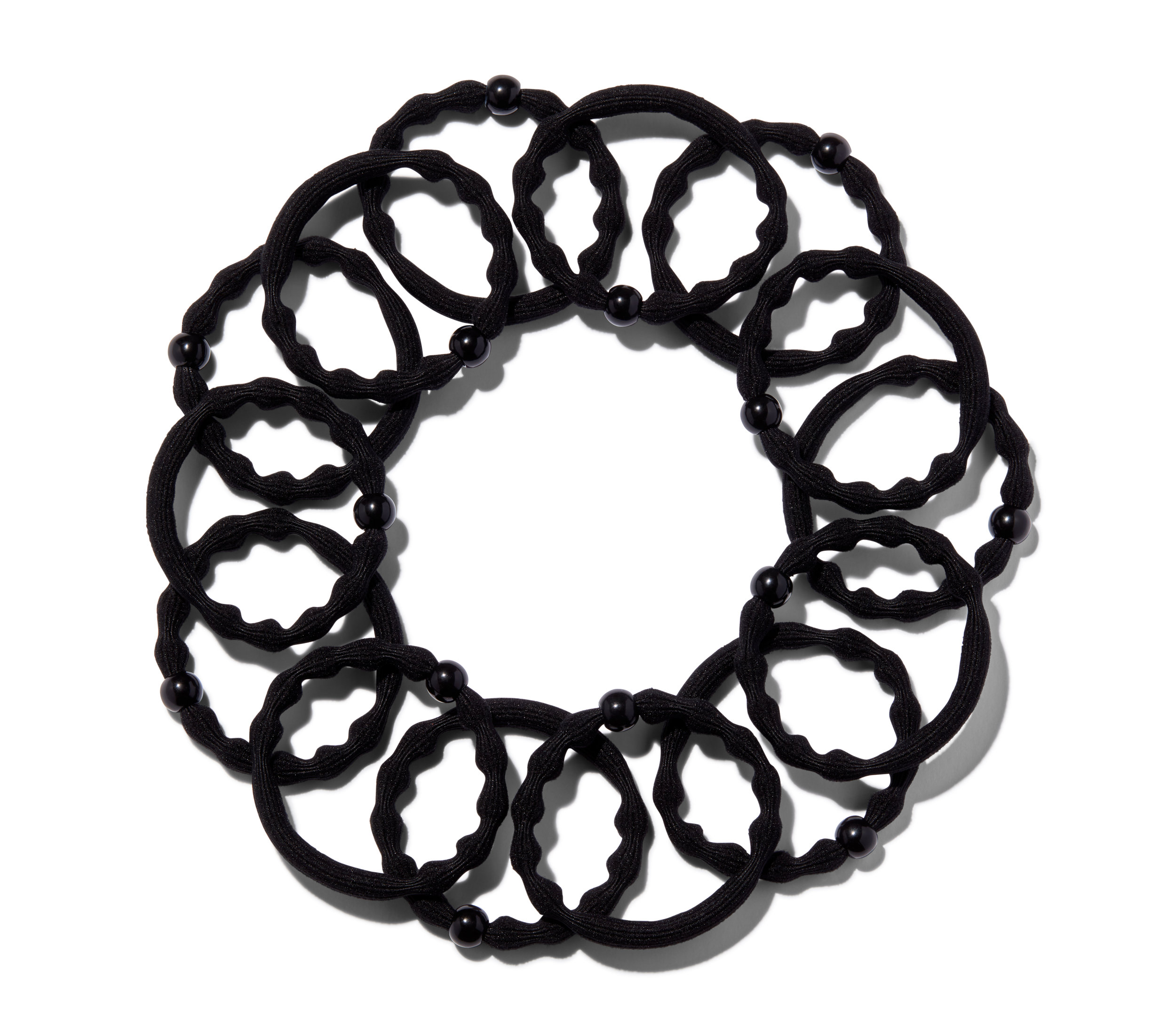 Goody Ouchless Forever Hair Elastics in circle layout