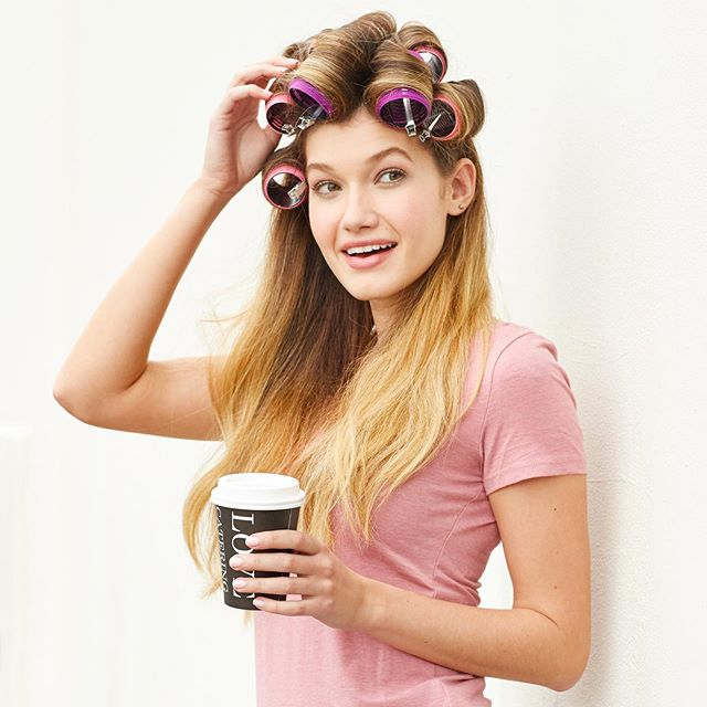 Sometimes it's just a coffee + curlers kind of morning 🤷☕💕 Pick up these classic Goody Hair Curlers at your local @walmart today! #goodyhair #feelgoody