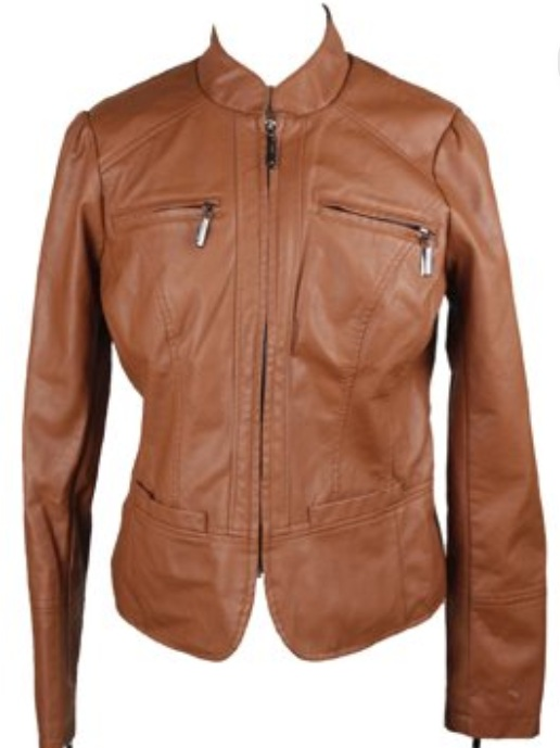 I own a black leather jacket and this brown one. I wear these on an almost daily basis. They're my closet staples. $33