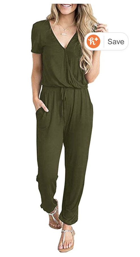 I have a sleeveless version of this jumpsuit and I am obsessed with this. I bought the green one for this trip and almost immediately bought one in every other color. It is beyond comfortable. Similar jumpsuit  here . $20