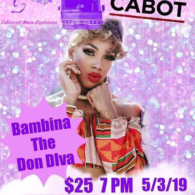 What's your Friday night going to be? Does it include 👸🏿👸🏽👸🏻Bambina the Don Diva @imstillcute 👸🏿👸🏽👸🏻and a bunch of other fantastic performers? Cause it should!  Join us @the_cabot for food, fun, drinks, and a film! Come and support @projectout @therainbowtimes and @northshorepride and their incredible work.  #fridaynight #creativenorthshore #creativecollective #no_proscenium #creativecollectivema #retonica #dragqueen #dragking #dragshow #beverly #thingstodoinbeverly #beverlymainstreets