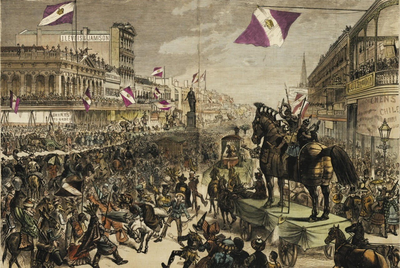 The Krewe of Rex - OH YEAH! It rolls on Mardi Gras day and is THE King of Carnival since 1872! It's true Mardi Gras tradition! Find out more here: https://www.rexorganization.com