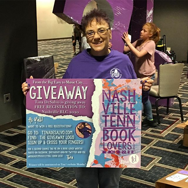 Last Day to Enter!! Win a free registration to BOOK LOVERS CON 2020. Here is BLC Owner & CREATOR, Jo Carol Jones as she & her team pack up to begin prep for. Asheville. Enter at tinaDeSalvo.com #bigeasy2musiccityblc