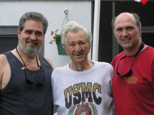 Dad with my brother, Bob and me.