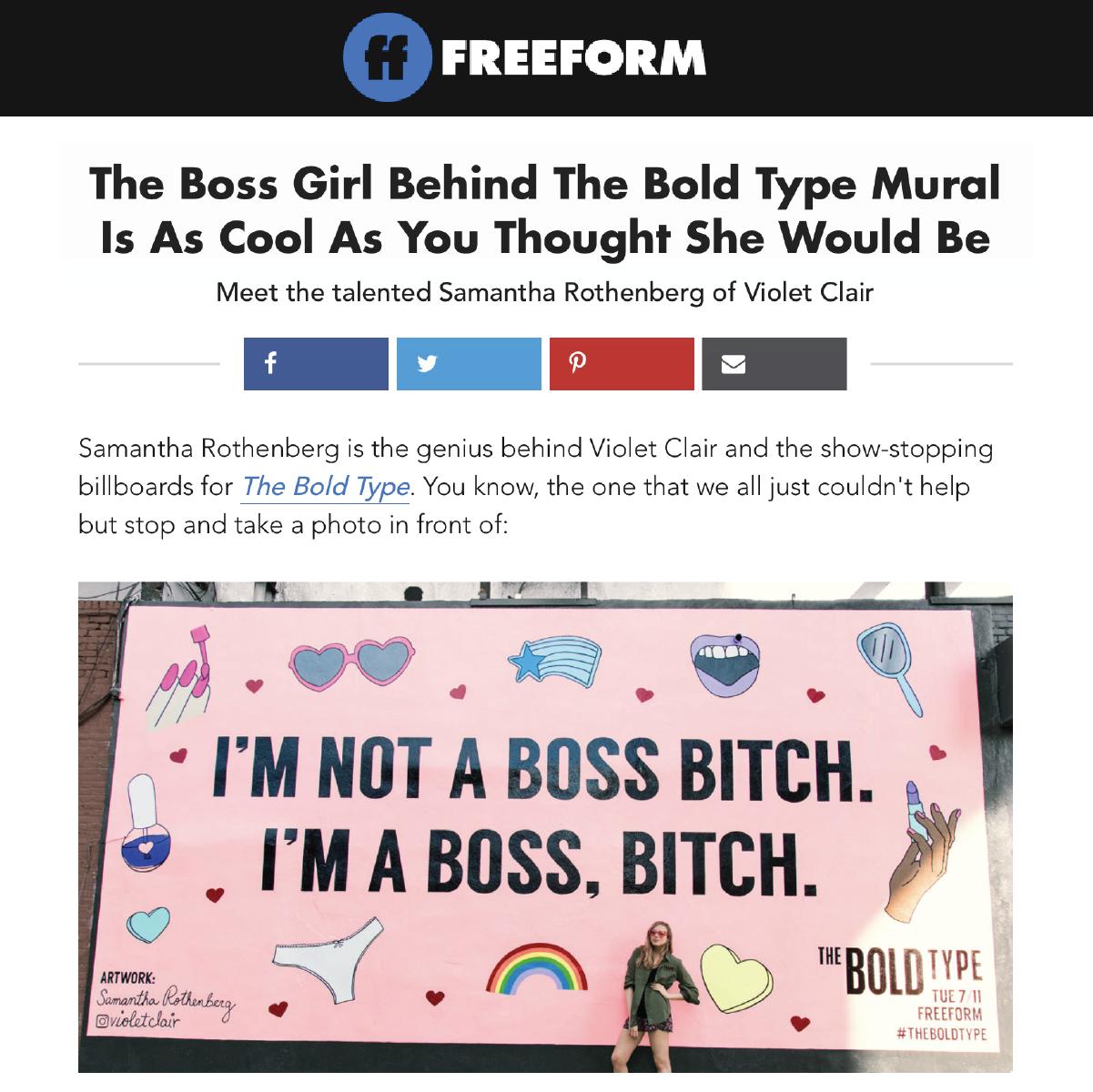 Freeform Blog