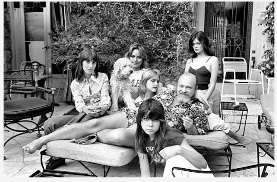 Getty Image. Judy Priscol, Linda Pierce,   Loana Sparke  , Patti McLean, Oriole Adams with Bernie at his home.