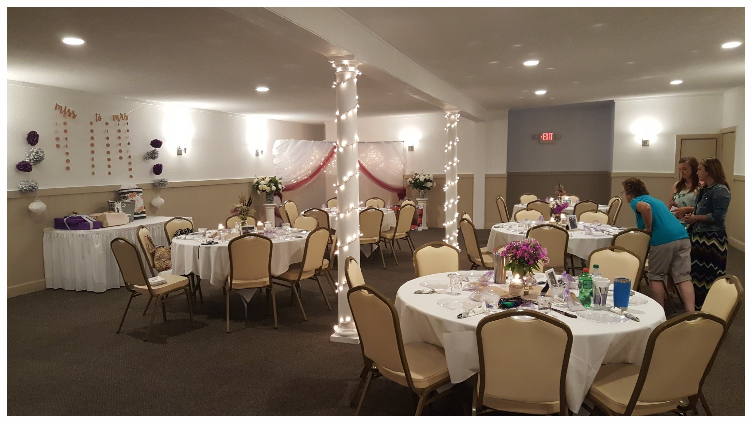 The Starlight Room - This delightful room features an expanded dance floor and a fresh look! The Starlight Room can entertain up to 120 guests for dinner. A portable bar is available for use in this room as well.