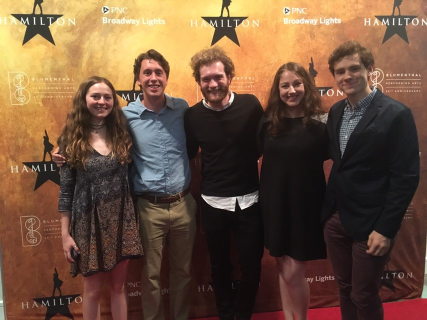 Our class was lucky enough to see  Hamilton  live in Charlotte this past November.