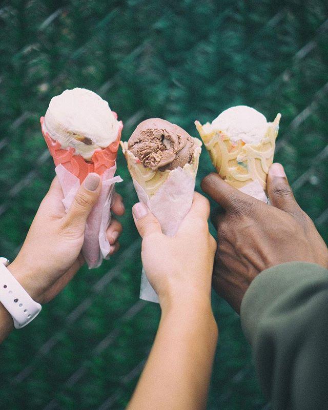 Reminder to put take a break from social media and enjoy #FreeConeDay 🍦🍦🍦What's your favorite @benandjerrys flavor? Mine's #MilkAndCookies • • • #icecream #studybreak