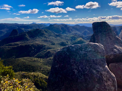 The view from the peak of Pinnacles Summit in Coromandel Peninsula, a hike I did with University of Auckland medical students.