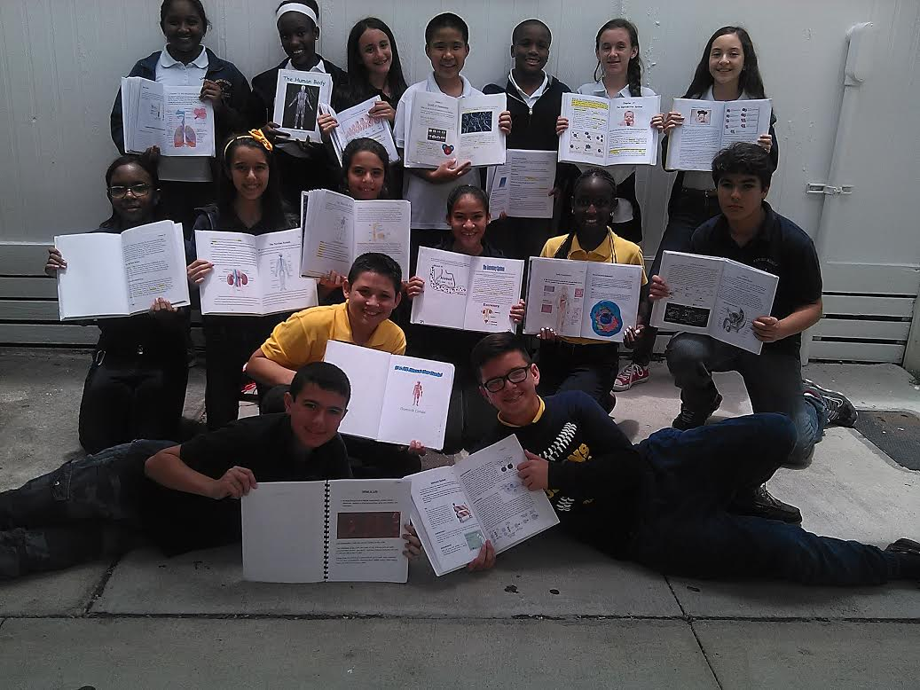 Maria's Students used Writers Journals for their Human Anatomy Study -
