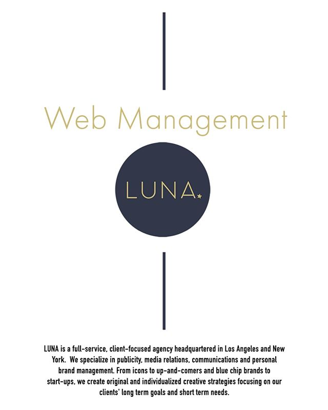 We loved the opportunity to work with LUNA ENTERTAINMENT.  They're is a full-service, client-focused agency headquartered in Los Angeles and New York.  Specializing in publicity, media relations, communications and personal brand management. Some of their clients include Jessica Simpson, Zoey Deschanel & Naomi Campbell.  The goal was simple. They currently run their website on Squarespace and needed some guidance on how to consistently update and make changes.  We came in for several hours and touched on topics specific to their needs and left them with documentation  to refer to. . . . . . #202creative #zoeydeschanel #naomicampbell #jessicasimpson #lunaentertainment #lunapr #pr #squarespace #design #branding #photography #videoproduction #webdesign #design