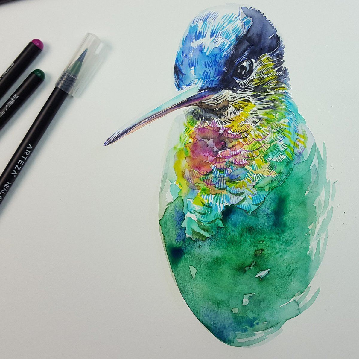 watercolor pens hummingbird.jpg