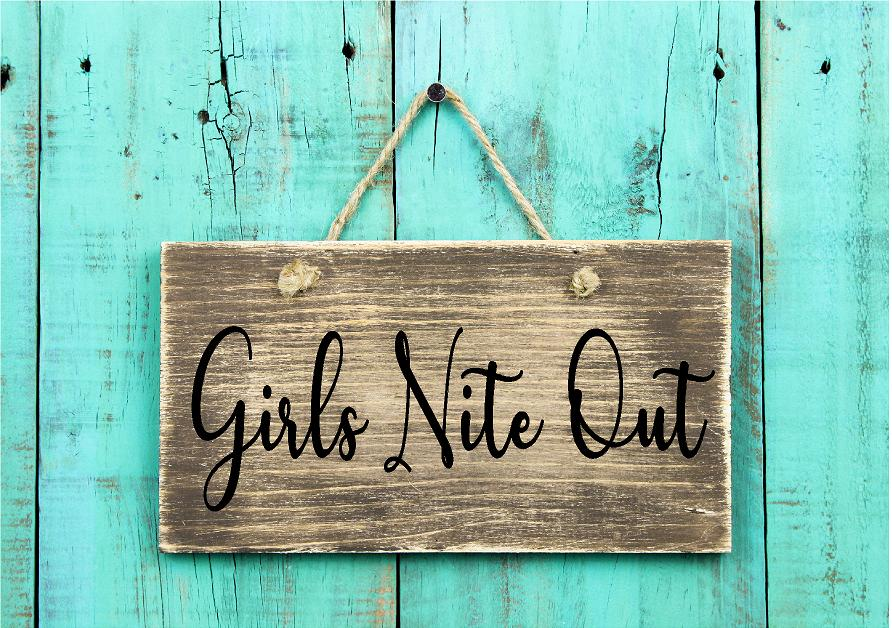 Girls Nite Out Sign On Turq Wall BlkLtrs.jpg