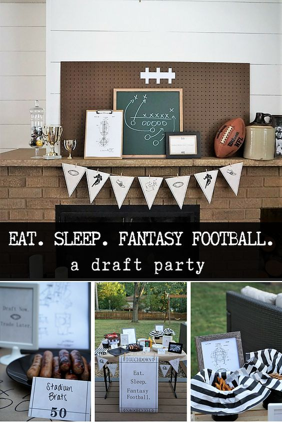 Throw a vintage inspired fantasy football party or a tailgate party for your favorite team. Click here for budget-friendly decor and food ideas! #fantasyfootball #footballparty #tailgateideas #footballseason