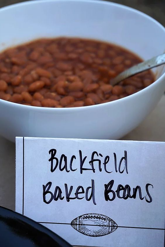 Backfield baked beans for tailgate