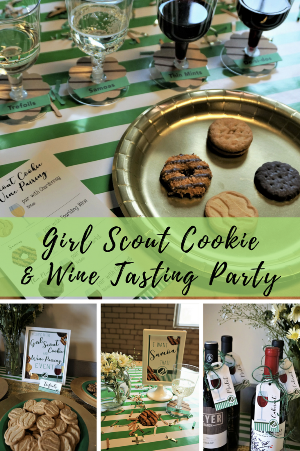 Pair your favorite Girl Scout cookies with wine for a fun gathering and support your local girl scouts! #winepairing #girlscoutcookies #winetasting #girlscouts #thinmints