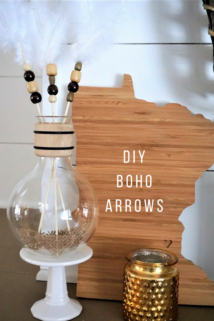 Make these boho arrows that are sure to be cupid approved Valentine's Day decor. Click here for the supply list and tutorial!