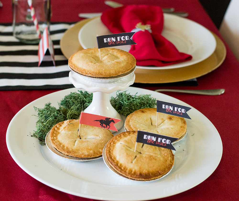Mini pies from Walmart make a perfect dessert for a Kentucky Derby party!