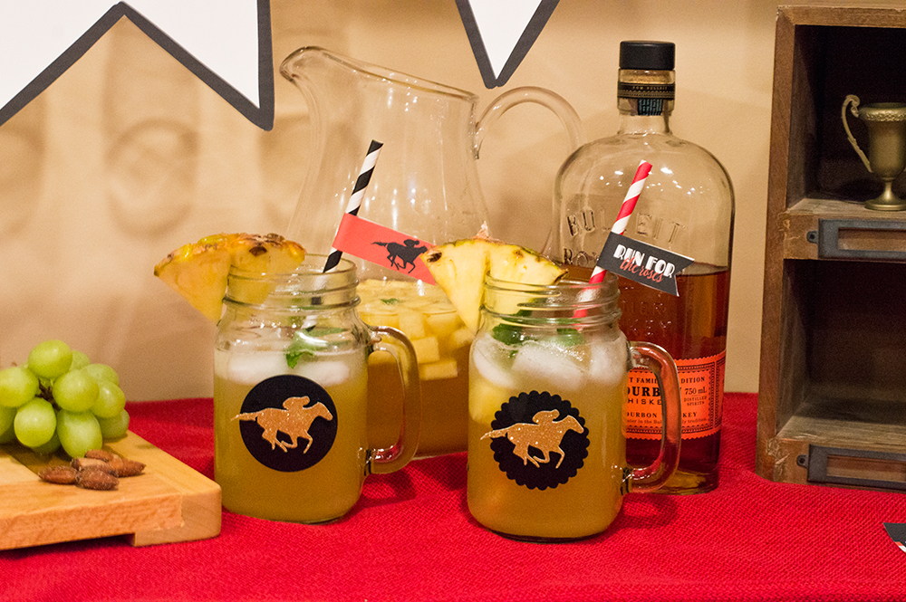 Mint julep sangria for a Kentucky Derby cocktail.