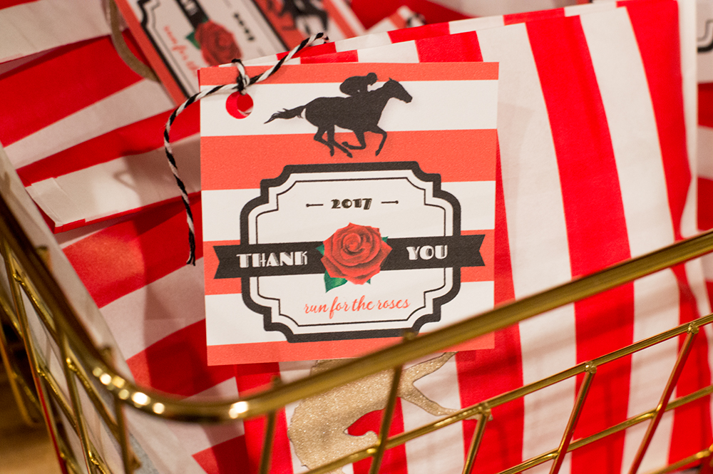 Favor tags for your Kentucky Derby party by Elva M. Design.
