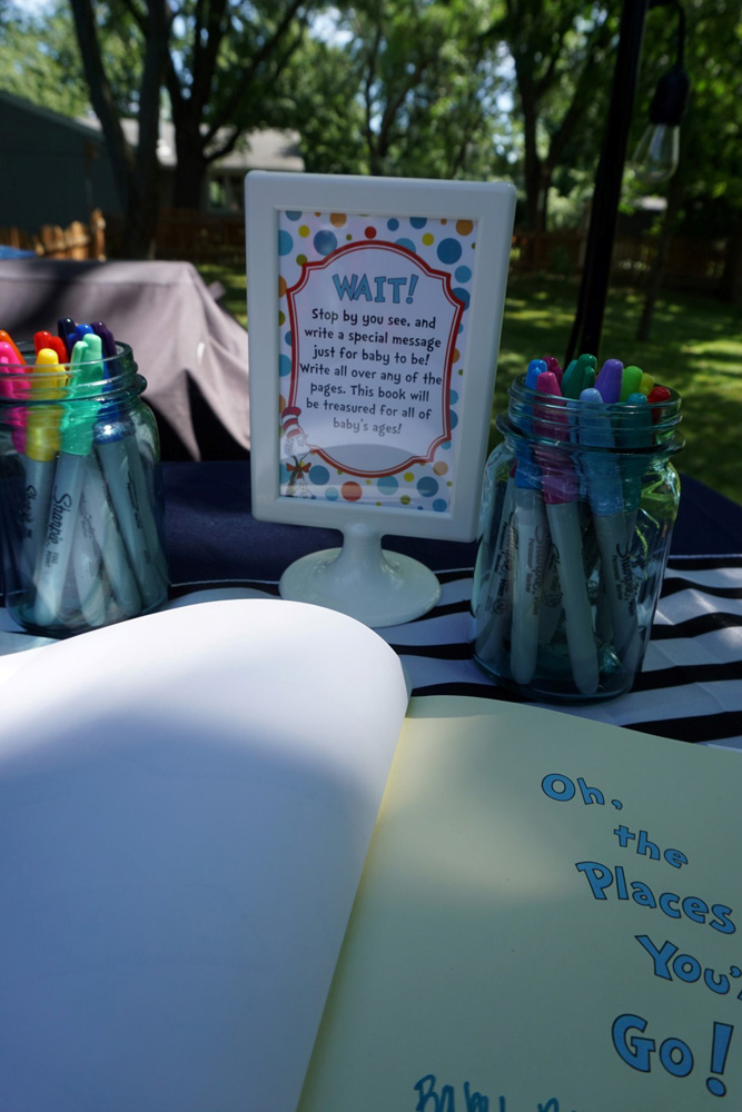 Dr. Suess themed guestbook idea