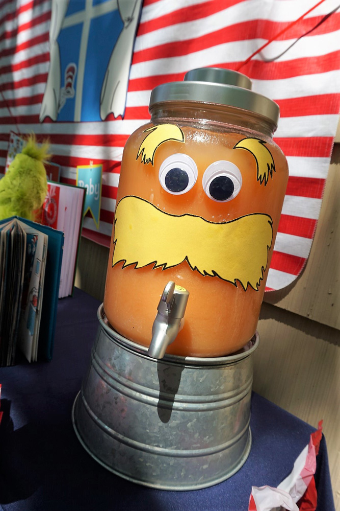 Turn your drink container into the Lorax for a Dr. Seuss themed party