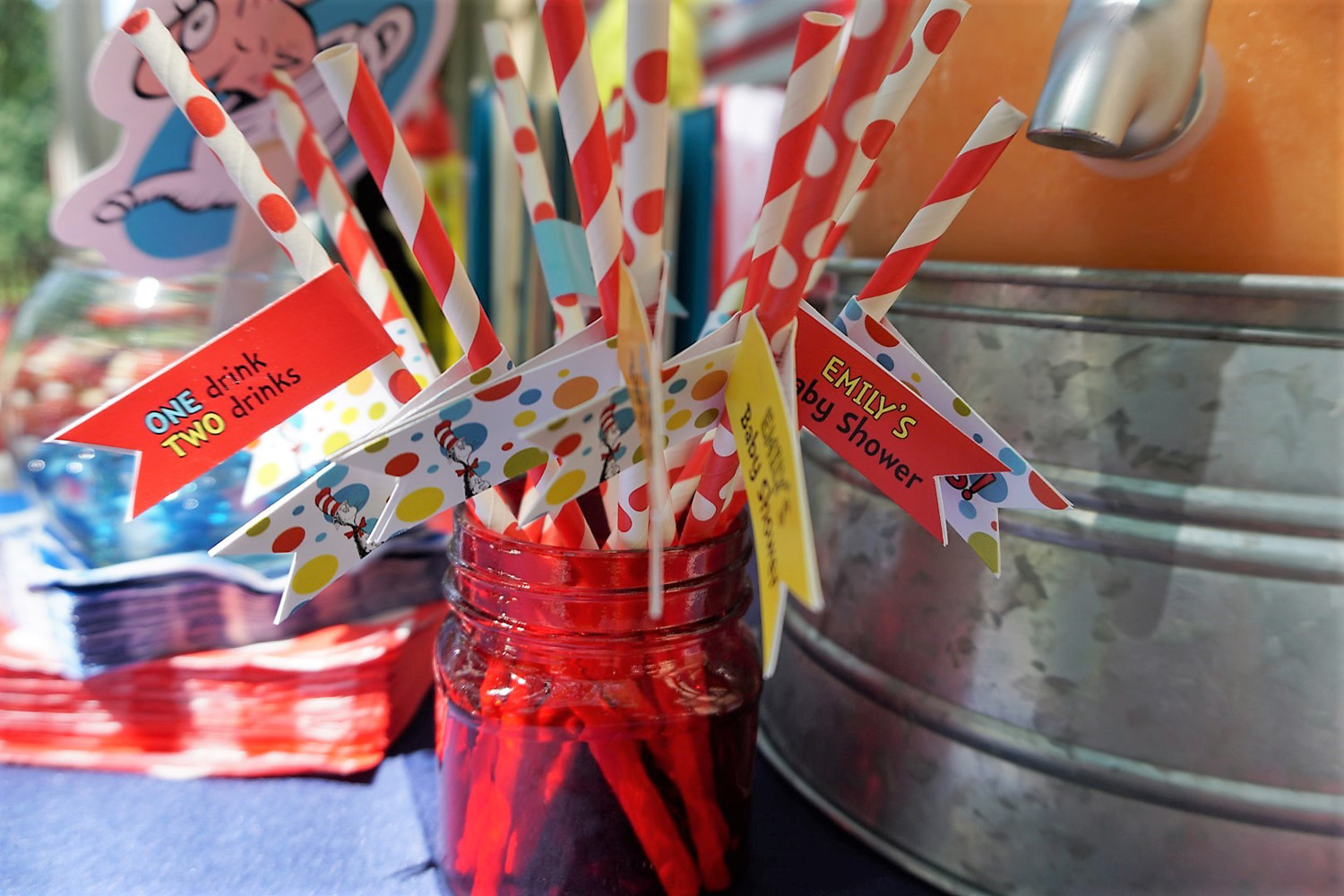 Dr. Seuss straw flags