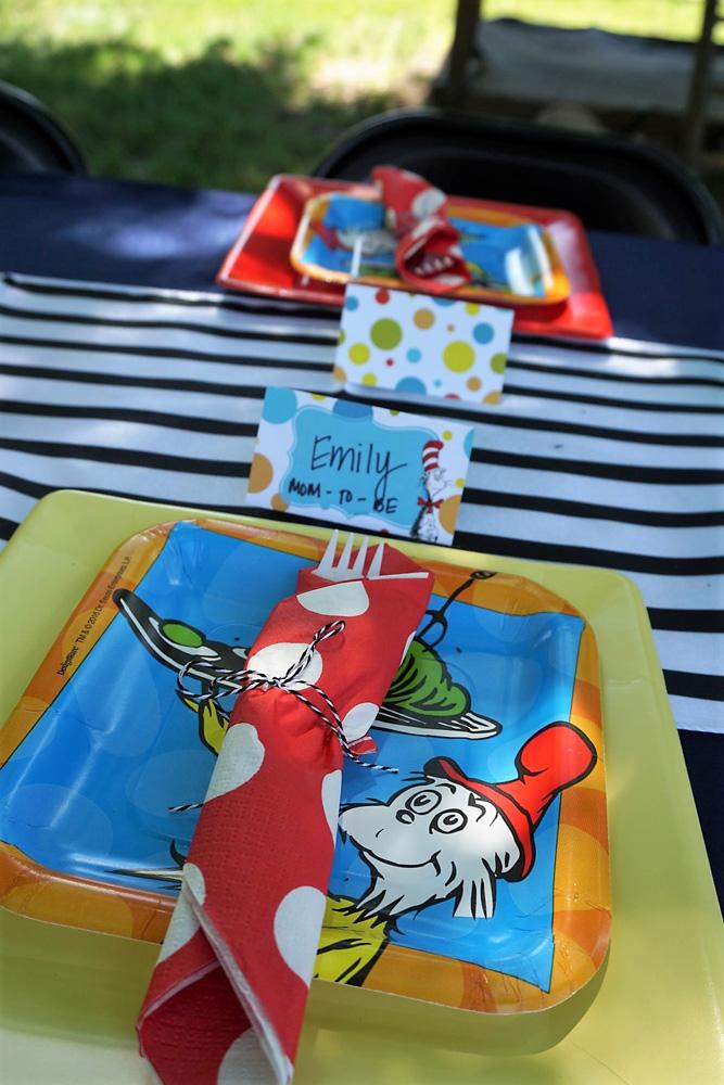 Dr. Seuss party plates