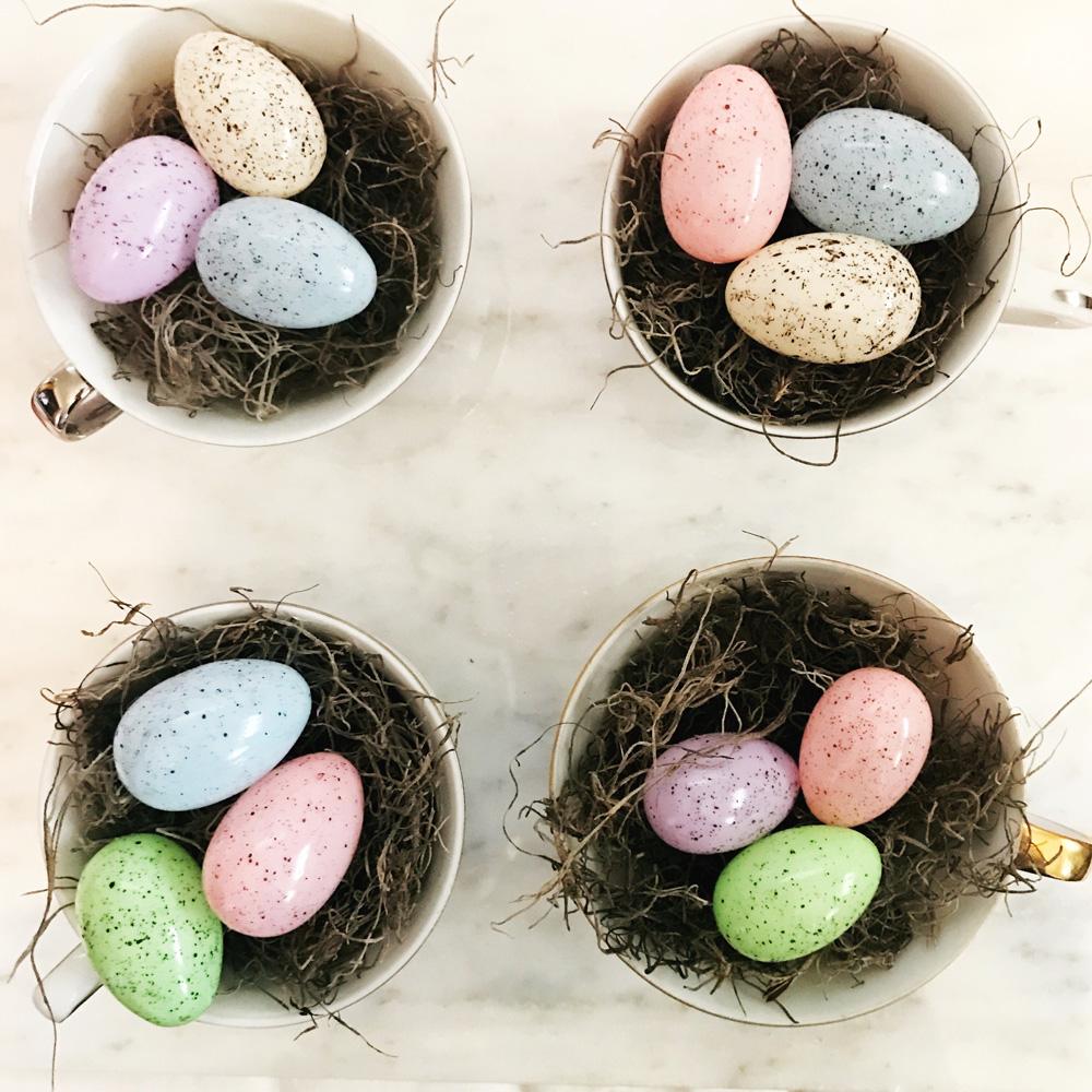 DIY Easter Egg tea cups.