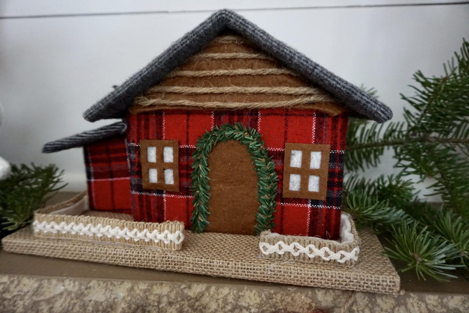 Plaid Christmas house from Walmart.