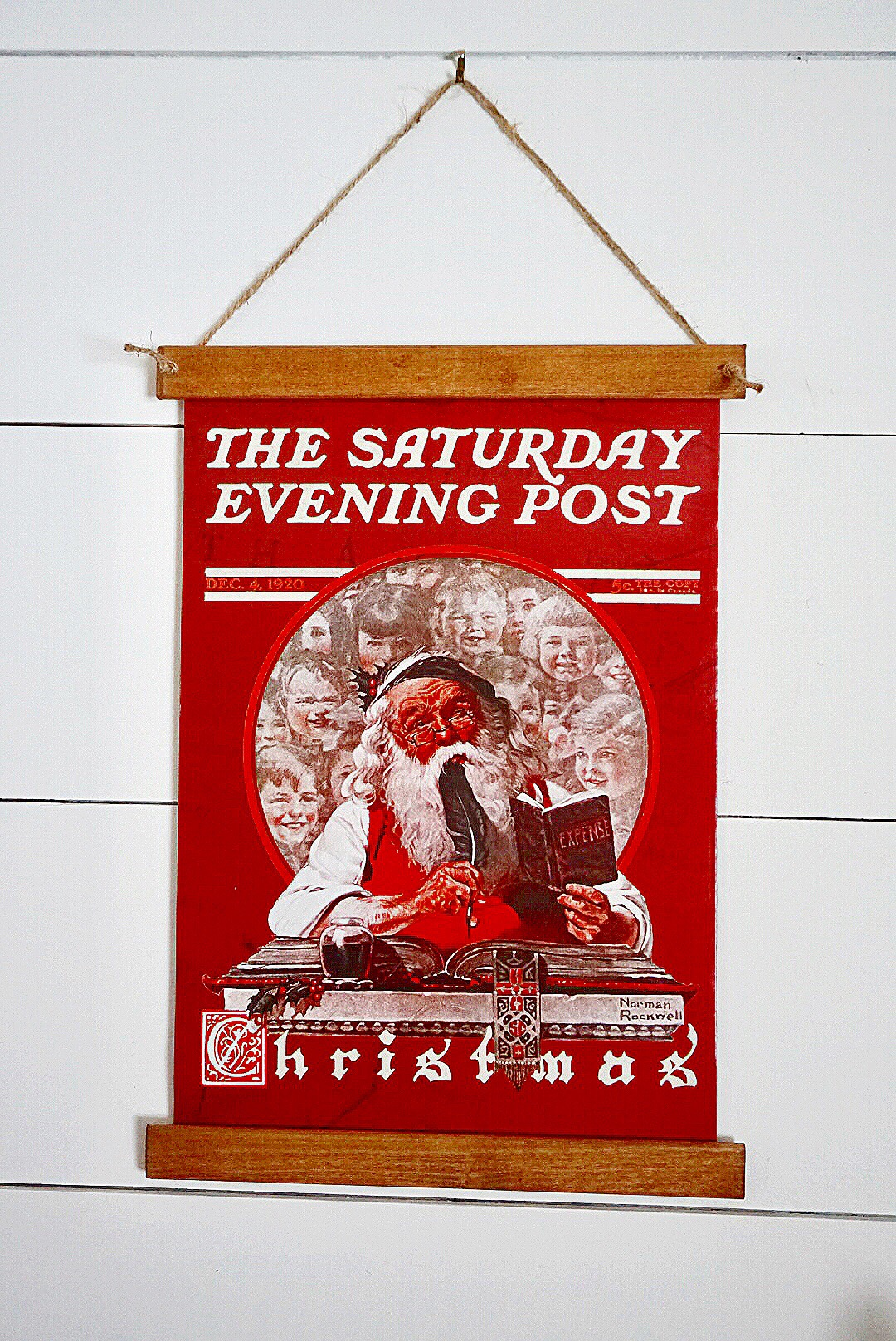 Use gift boxes to turn into DIY Christmas Art in a vintage poster frame.