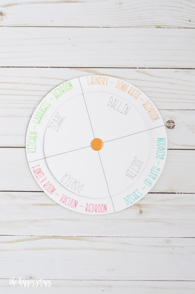 DIY Chore Chart with Curved Text in Design Space