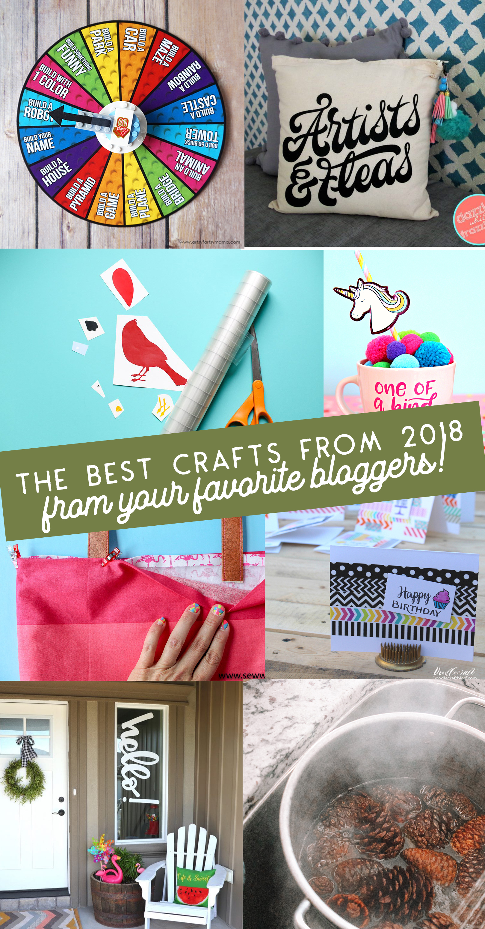 Your favorite bloggers have teamed up to share the best crafts and DIYs of 2018! Click here to see all of the amazing ideas! #bestof2018 #crafts #diys #bestdiys #bestcrafts #craftprojects #craftideas