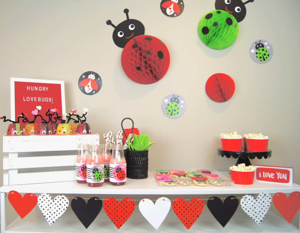 Host a Valentine's playdate with your kids with this fun love bug theme.