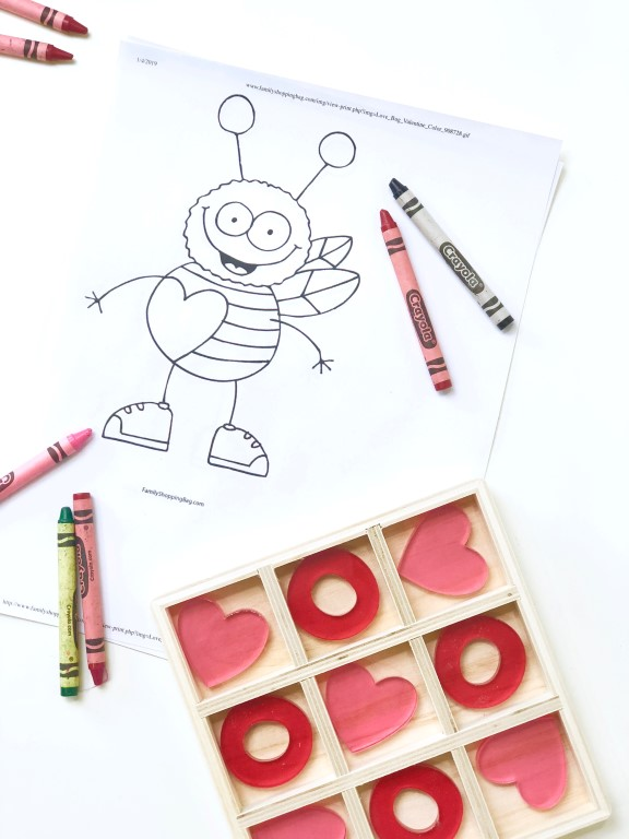 Love bug coloring page.