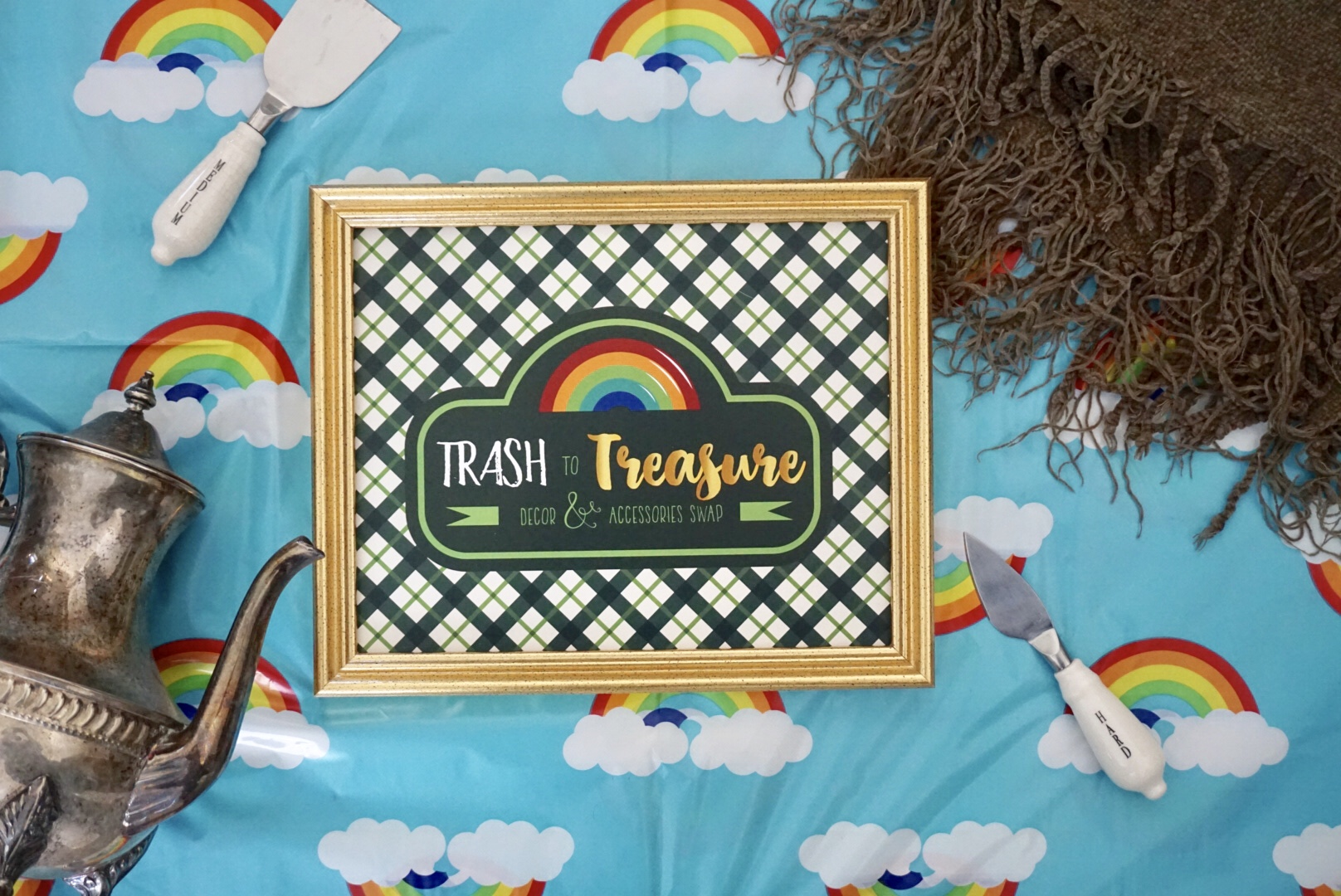 Trash to Treasure themed girl's night inspired by Marie Kondo's Tyding Up.