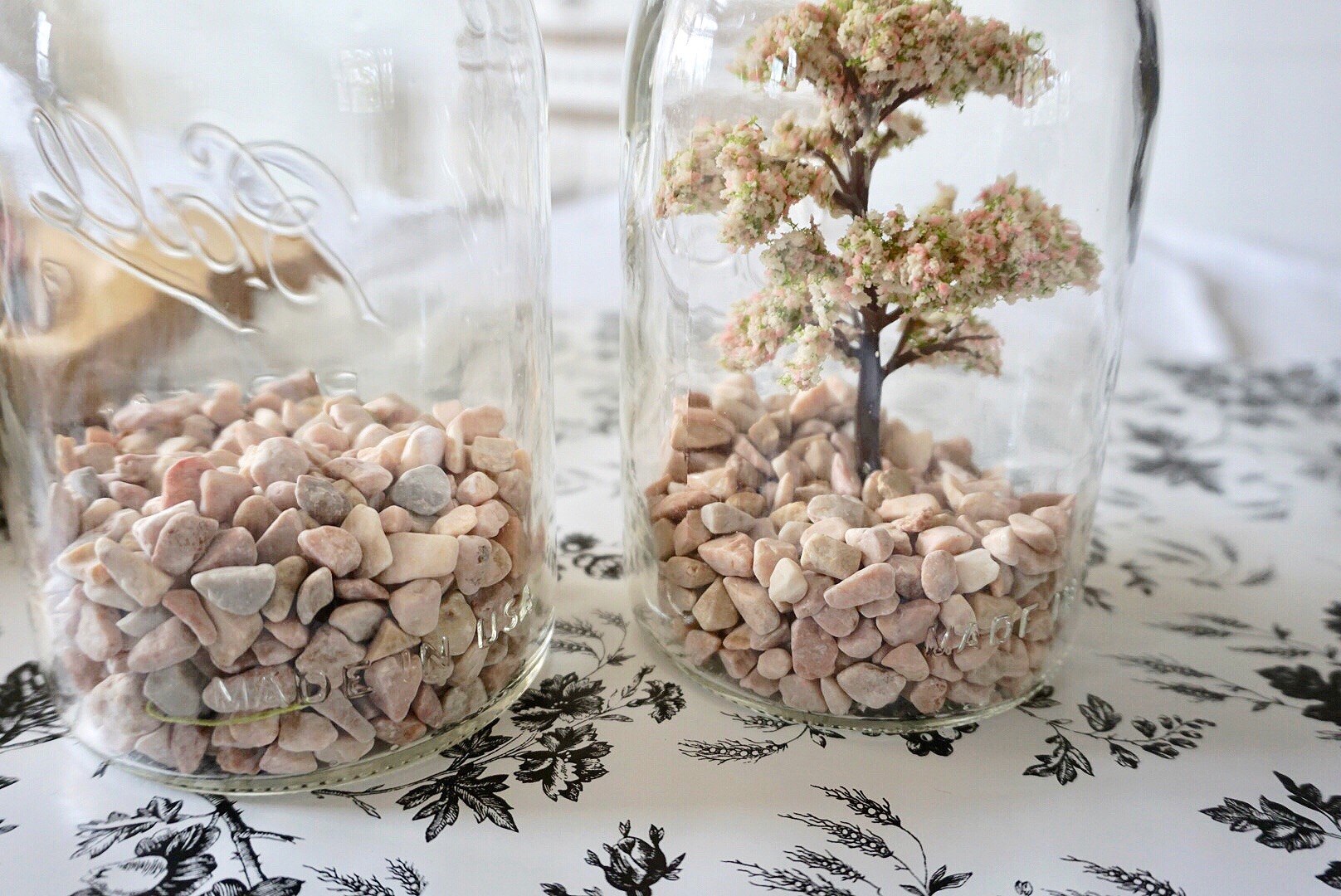 Rock in a Ball mason jar for DIY fairy garden