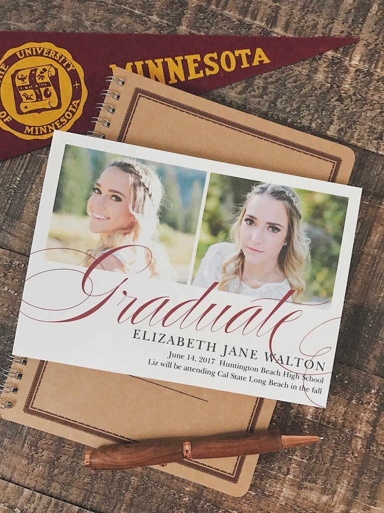 Basic Invite graduation invitation in Minnesota colors