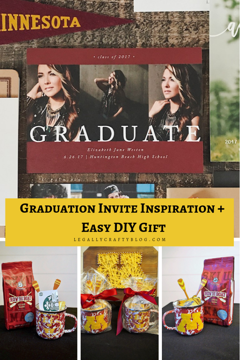 Check out this easy DIY grad gift or grad party favor that can be easily customized to any school! #gradparty #gradgift #graduation #diygifts #gradgiftideas #giftcardholders