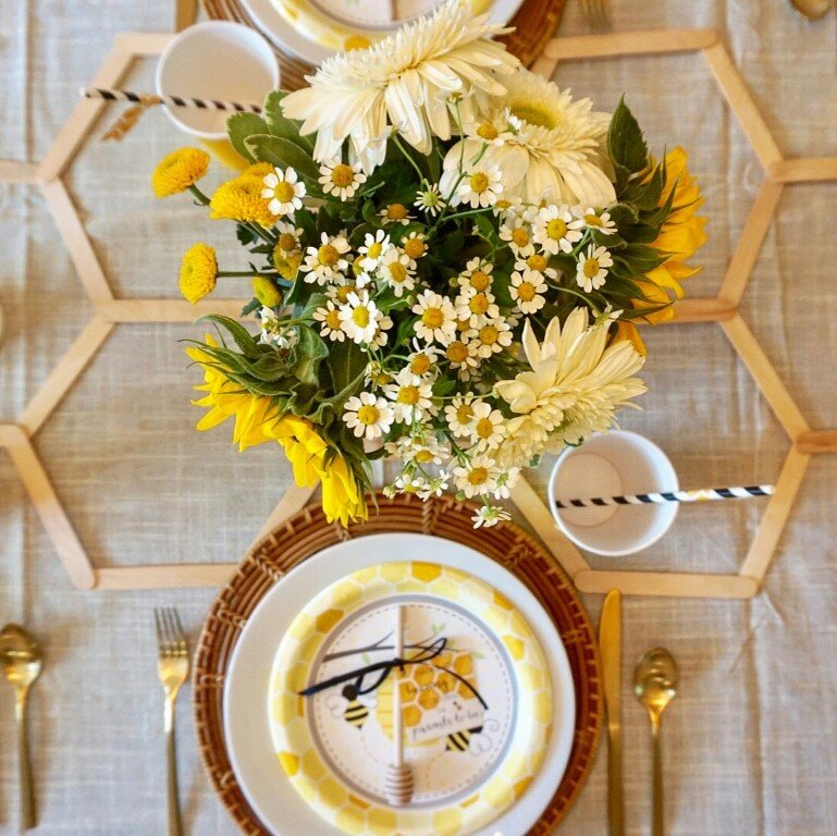 DIY baby shower floral ideas