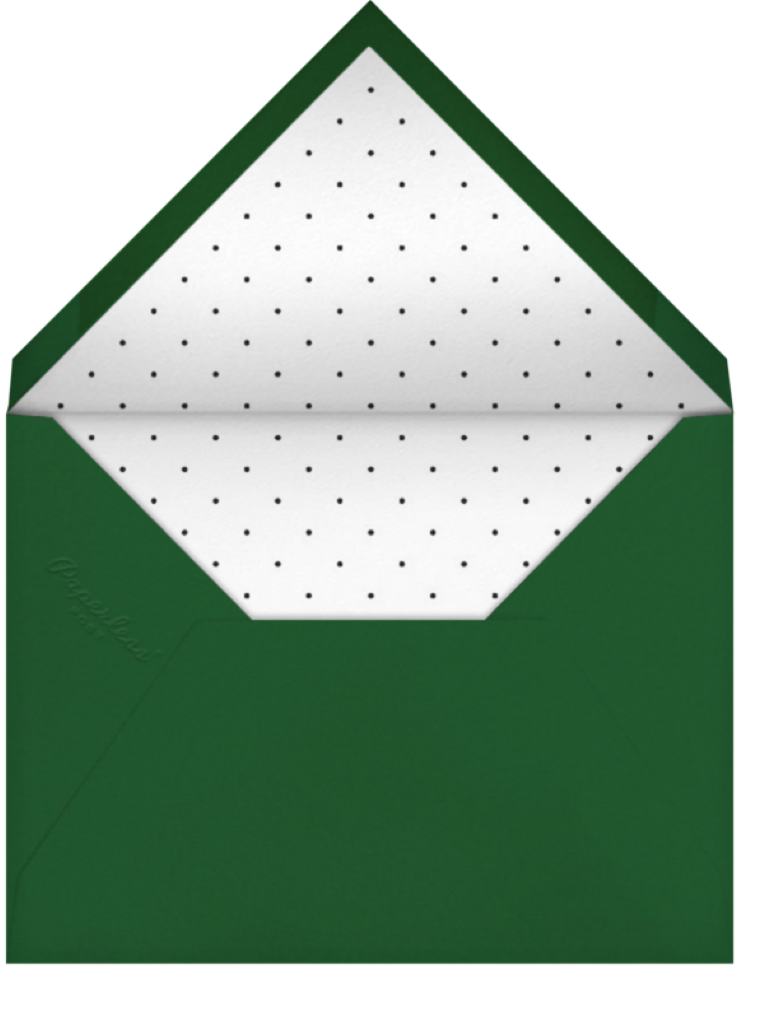 Paperless pot green envelop with polka dot lining